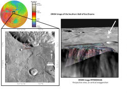 Phyllosilicates exposed in the wall of Eos Chasma