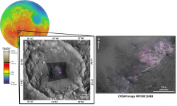 Carbonate minerals near Huygens crater