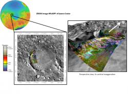 CRISM Image of delta in Jezero Crater