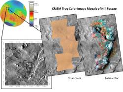 CRISM True Color Image Mosaic of Nili Fossae